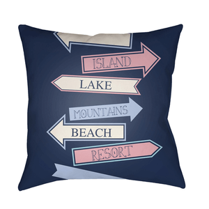 Carolina Coastal Pillow ~ Sky Blue - Cece & Me - Home and Gifts