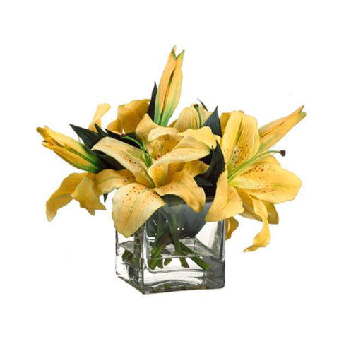 Casablanca Lily in Vase ~ Yellow - Cece & Me - Home and Gifts