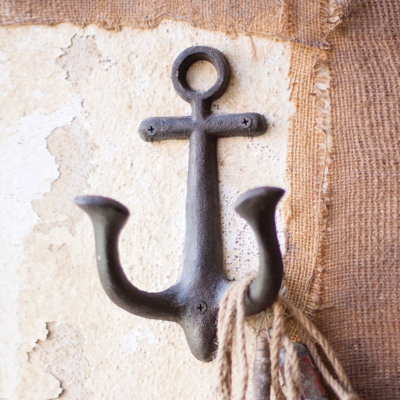 Cast Iron Anchor Wall Hook - Cece & Me - Home and Gifts
