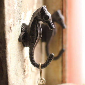 Cast Iron Seahorse Hook - Cece & Me - Home and Gifts