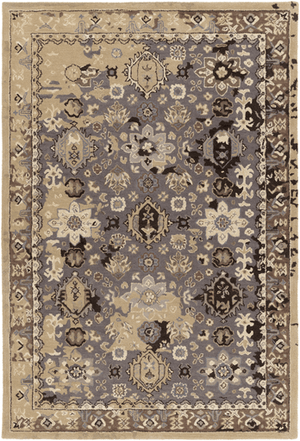 Castello Rug ~ Black/Khaki/Camel/Eggplant - Cece & Me - Home and Gifts