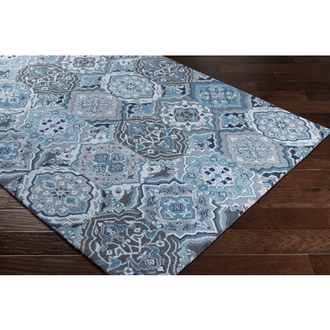 Image of Castille Rug ~ Navy/Teal/Sky Blue - Cece & Me - Home and Gifts