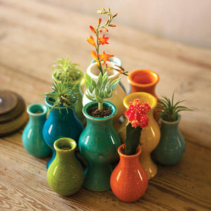 Ceramic Bud Vases ~ Multi-Colored  (Set of 13) - Cece & Me - Home and Gifts