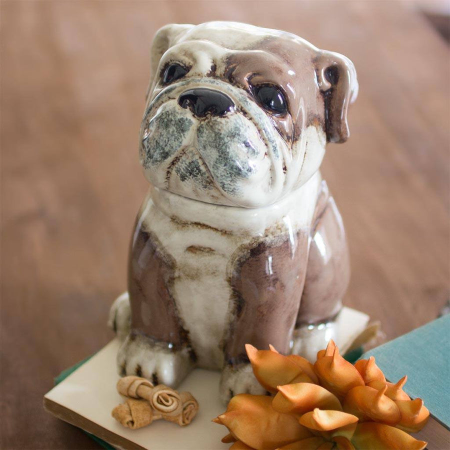 Ceramic Bulldog Canister - Cece & Me - Home and Gifts