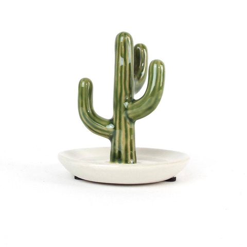 Ceramic Cactus Jewelry Holder - Cece & Me - Home and Gifts