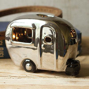 Ceramic Camper Lamp ~ Silver - Cece & Me - Home and Gifts