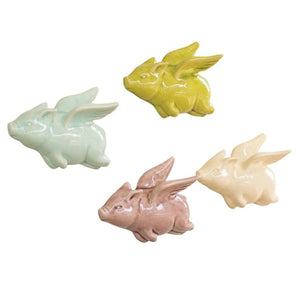 Ceramic Flying Pig (Set of 4) - Cece & Me - Home and Gifts