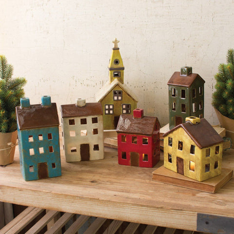 Ceramic Village (Set of 6) - Cece & Me - Home and Gifts