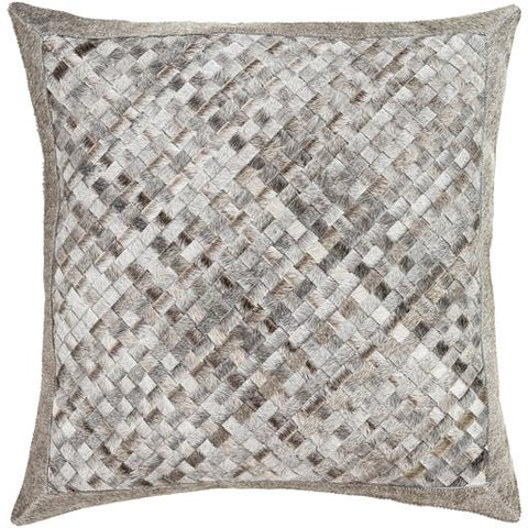 Cesta Hide Pillow ~ Black, White, Taupe, Back - Cece & Me - Home and Gifts