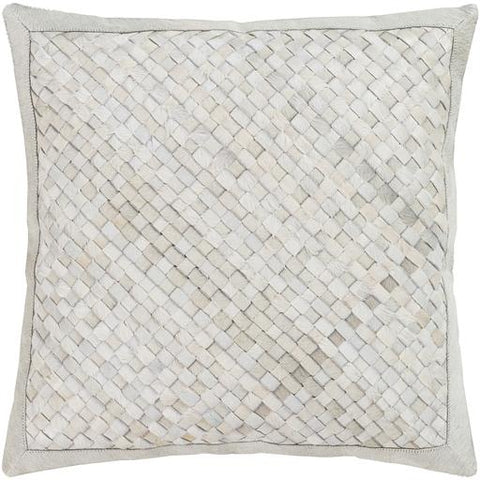 Cesta Hide Pillow ~ White, Beige, Taupe - Cece & Me - Home and Gifts