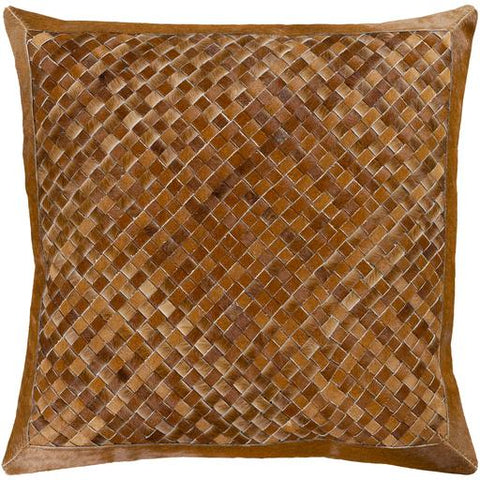 Cesta Hide Pillow ~ Brown & Camel - Cece & Me - Home and Gifts