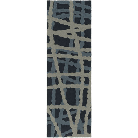 Image of Cheney Rug ~ Navy/Denim/Light Gray - Cece & Me - Home and Gifts