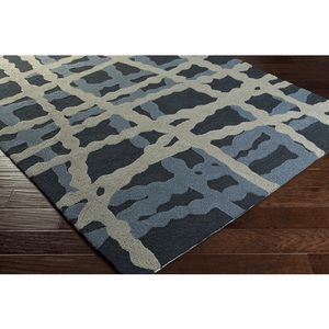 Cheney Rug ~ Navy/Denim/Light Gray - Cece & Me - Home and Gifts