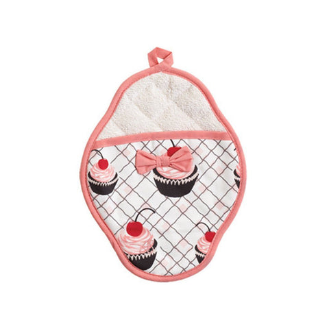 Cherry Cupcakes Scalloped Pot Mitt - Cece & Me - Home and Gifts
