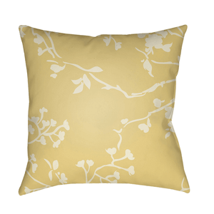 Chinoiserie Floral Pillow ~ Cream & Bright Yellow - Cece & Me - Home and Gifts