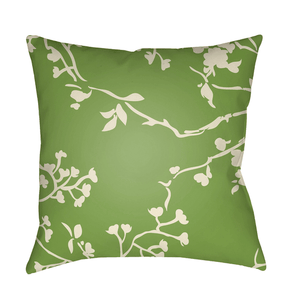 Chinoiserie Floral Pillow ~ Cream & Grass Green - Cece & Me - Home and Gifts