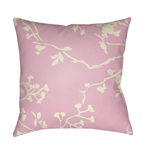 Chinoiserie Floral Pillow ~ Cream & Pale Pink - Cece & Me - Home and Gifts
