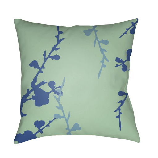 Chinoiserie Floral Pillow II ~ Dark Blue/Aqua/Mint - Cece & Me - Home and Gifts