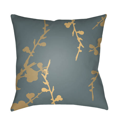 Chinoiserie Floral Pillow II ~ Teal/Tan/Bright Yellow - Cece & Me - Home and Gifts