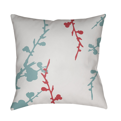 Chinoiserie Floral Pillow II ~ White/Bright Pink/Aqua - Cece & Me - Home and Gifts