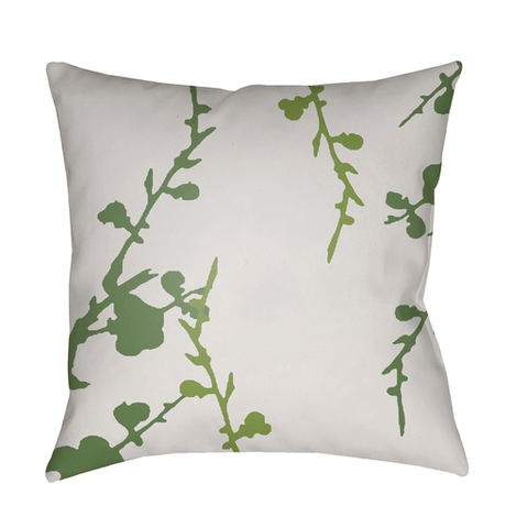 Chinoiserie Floral Pillow II ~ White & Grass Green - Cece & Me - Home and Gifts