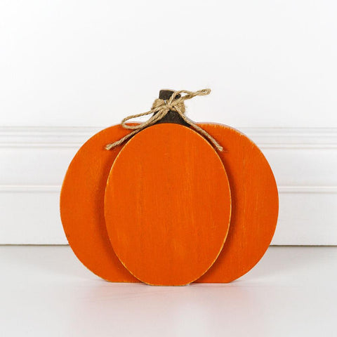Chunky-wood Pumpkin ~ Orange - Cece & Me - Home and Gifts