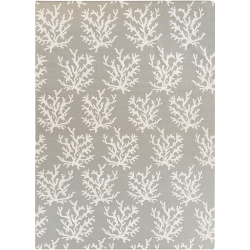 Coastal Boardwalk Wool Rug ~ Light Gray - Cece & Me - Home and Gifts
