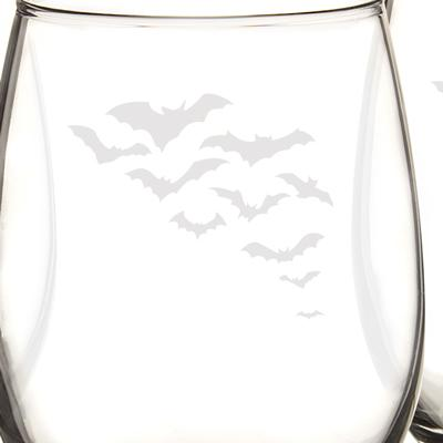 Colony of Bats Stemless Wine Glasses (Set of 4) - Cece & Me - Home and Gifts