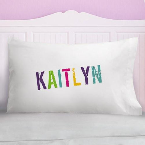 Image of Colorful Name Personalized Pillowcase - Cece & Me - Home and Gifts