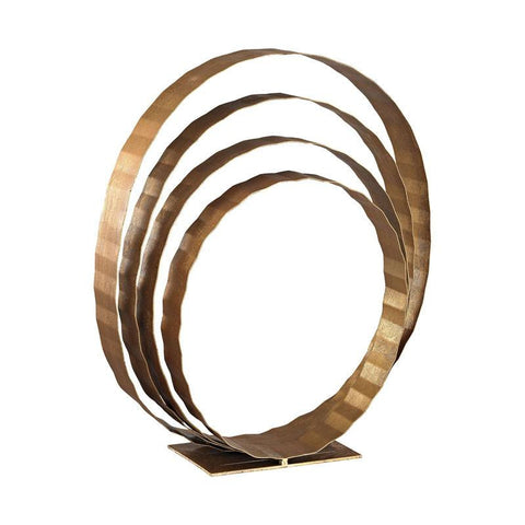 Gold Leaf Concentric Rings Table Top Sculpture - Cece & Me - Home and Gifts