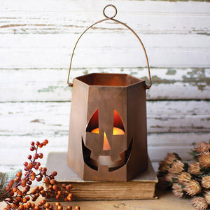 Copper Finish Jack-O-Lantern - Cece & Me - Home and Gifts