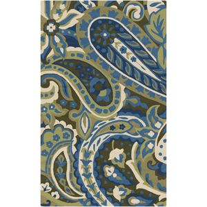 Corain Rug ~ Lime/Green/Bright Blue - Cece & Me - Home and Gifts