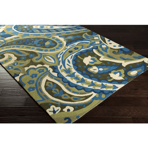 Image of Corain Rug ~ Lime/Green/Bright Blue - Cece & Me - Home and Gifts