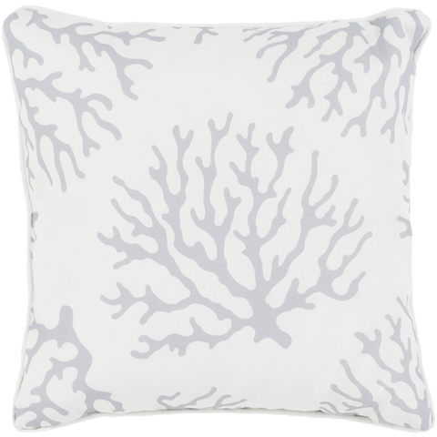 Coral Pillow ~ Medium Gray & White - Cece & Me - Home and Gifts