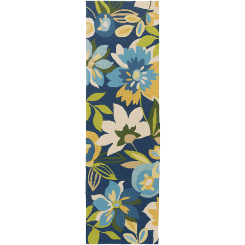 Image of Corday Rug ~ Navy/Bright Yellow/Aqua/Lime - Cece & Me - Home and Gifts