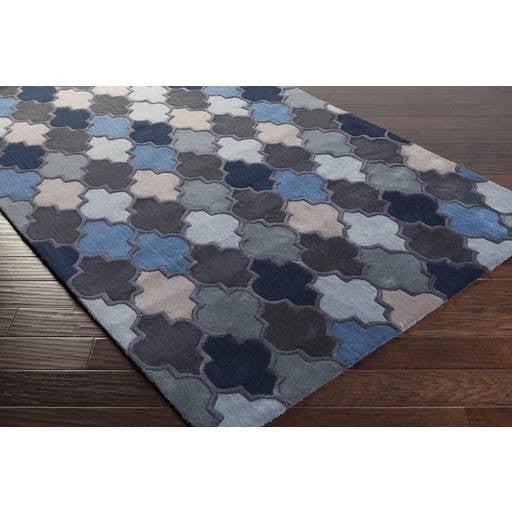 Coretta Rug ~ Denim/Gray/Khaki - Cece & Me - Home and Gifts