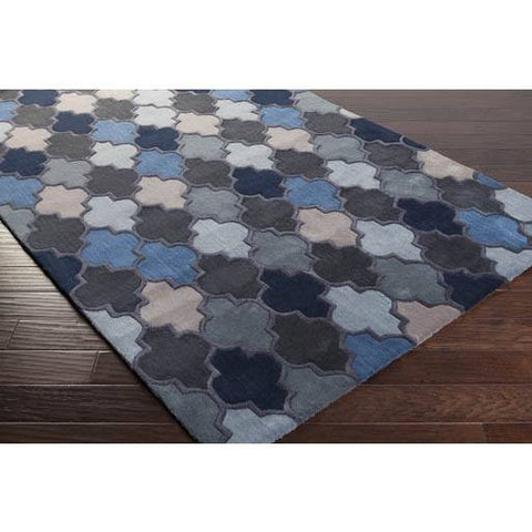 Image of Coretta Rug ~ Denim/Gray/Khaki - Cece & Me - Home and Gifts