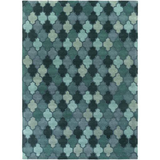 Coretta Rug ~ Dark Green/Teal/Violet/Aqua - Cece & Me - Home and Gifts