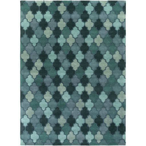 Image of Coretta Rug ~ Dark Green/Teal/Violet/Aqua - Cece & Me - Home and Gifts