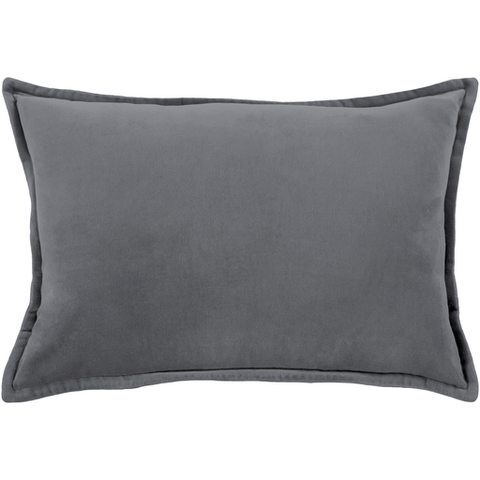 Image of Cotton Velvet Pillow ~ Charcoal - Cece & Me - Home and Gifts