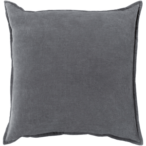 Cotton Velvet Pillow ~ Charcoal - Cece & Me - Home and Gifts