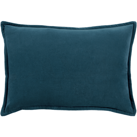 Image of Cotton Velvet Pillow ~ Teal - Cece & Me - Home and Gifts