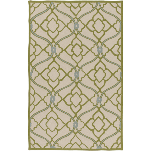 Image of Courtyard Rug ~ Olive/Beige/Medium Gray - Cece & Me - Home and Gifts