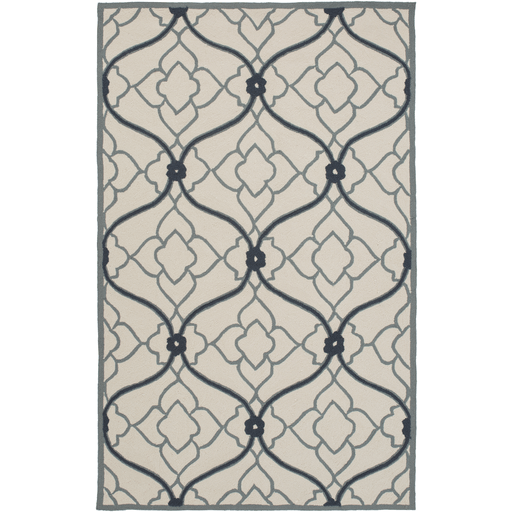 Courtyard Rug ~ Teal/Navy/Beige - Cece & Me - Home and Gifts