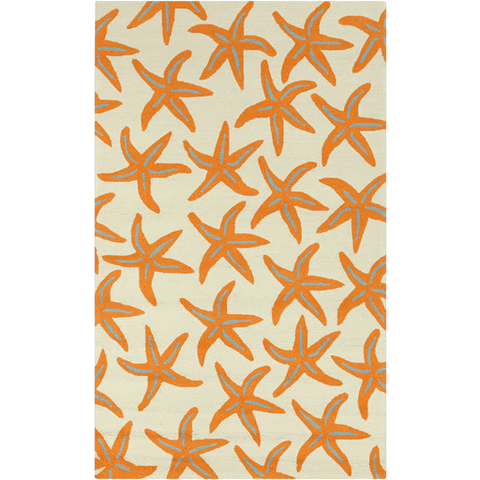 Image of Cove Bay Rug ~ Bright Orange/Tan/Teal - Cece & Me - Home and Gifts