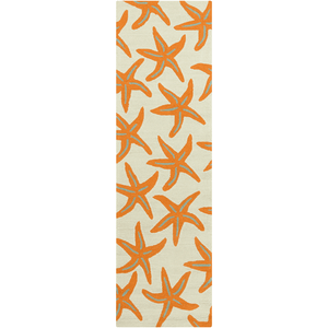 Cove Bay Rug ~ Bright Orange/Tan/Teal - Cece & Me - Home and Gifts
