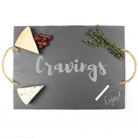 """Cravings"" Slate Serving Board - Cece & Me - Home and Gifts"