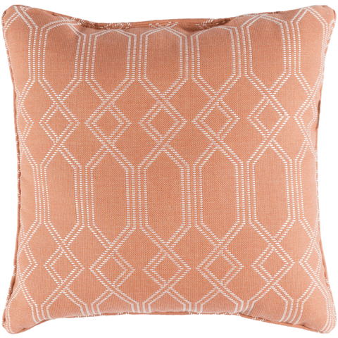 Image of Crissy Pillow ~ Bright Orange & White - Cece & Me - Home and Gifts