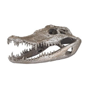 Crocodile Skull In Silver Leaf - Cece & Me - Home and Gifts