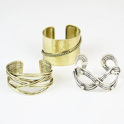 Infinity Metal Cuff ~ Silver - Cece & Me - Home and Gifts